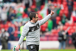 Hibernian's manager Pat Fenlon at the end..Hibernian 4 v 3 Falkirk, William Hill Scottish Cup Semi Final, Hampden Park..©Michael Schofield..