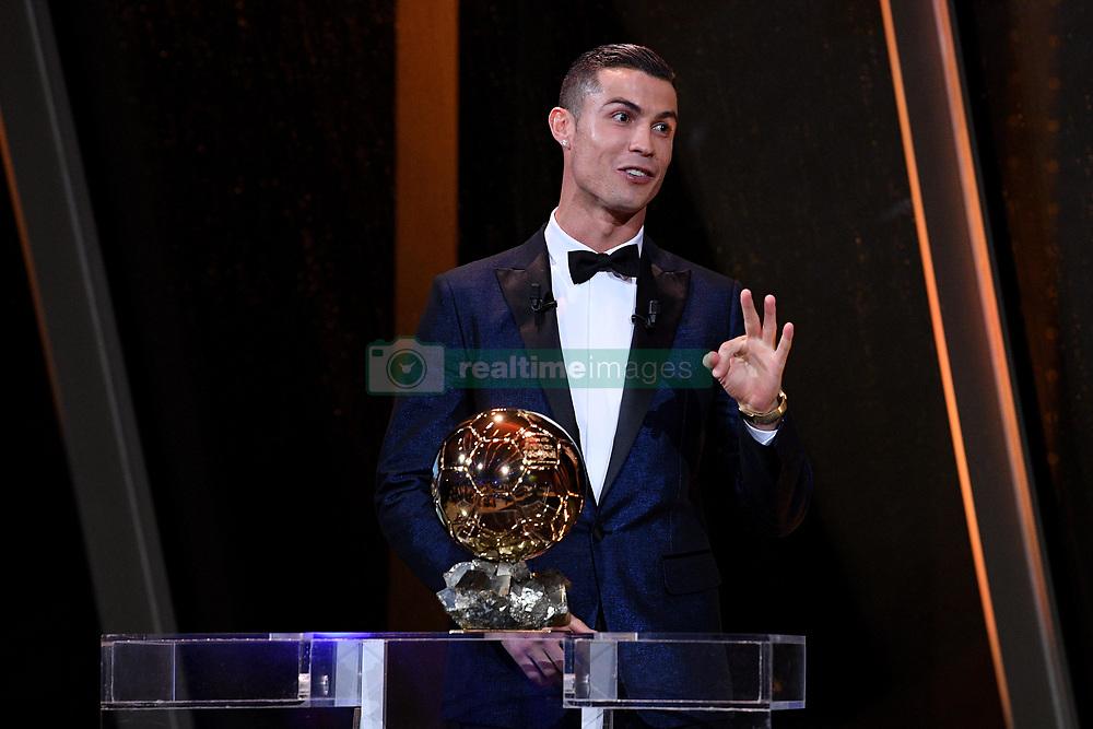 7 December 2017 -  Ballon d'Or 2017 - Cristiano Ronaldo with the Ballon d'Or trophy - Photo: Presse Sports / Offside