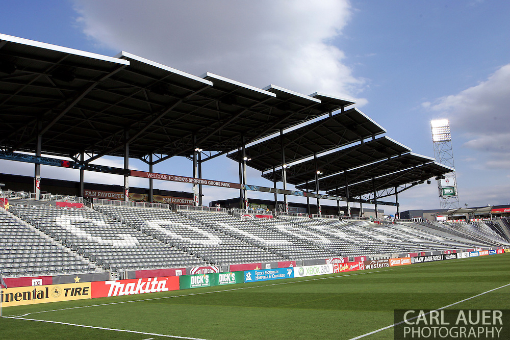 May 4th, 2013 Commerce City, CO - A view of the empty stands prior to the fans being left into watch the MLS match between the Toronto FC and the Colorado Rapids at Dick's Sporting Goods Park in Commerce City, CO