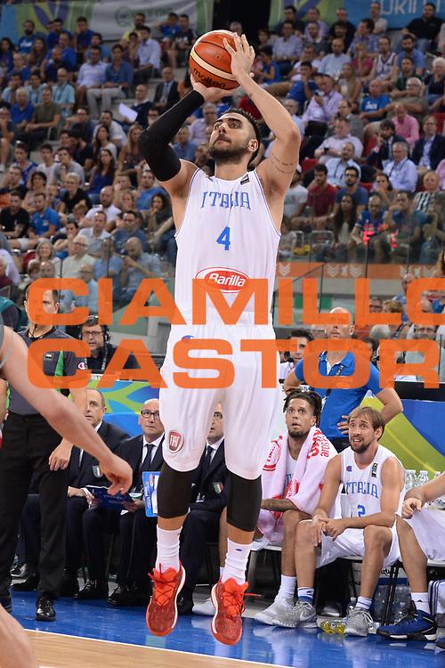 DESCRIZIONE: Torino FIBA Olympic Qualifying Tournament Semifinale Italia - Messico<br /> GIOCATORE: Pietro Aradori<br /> CATEGORIA: Nazionale Italiana Italia Maschile Senior<br /> GARA: FIBA Olympic Qualifying Tournament Semifinale Italia - Messico<br /> DATA: 08/07/2016<br /> AUTORE: Agenzia Ciamillo-Castoria
