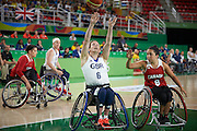 Clare Griffiths for Great Britain vs Canada in the Group A Preliminary Womens Wheelchair basketball at the Rio Olympic Arena.  Rio 2016 Paralympic Games. Thursday 8th September 2016