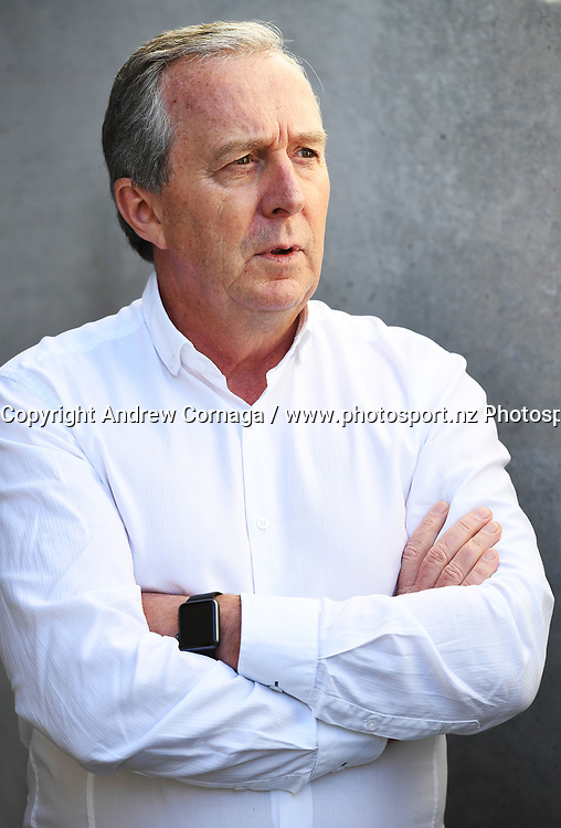 Warriors CEO Jim Doyle during a media announcement that Manu Vatuvei departure from the Vodafone Warriors for English Super League Club Salford. Mt Smart Stadium Auckland, New Zealand. NRL Rugby League. Tuesday 11 July 2017 © Copyright photo: Andrew Cornaga / www.photosport.nz