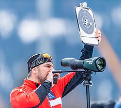 19.02.2020, Suedtirol Arena, Antholz, ITA, IBU Weltmeisterschaften Biathlon, Herren, 20 km Einzel, im Bild Ricco Gross Cheftrainer Biathlon Trainingsgruppe I (AUT) // Ricco Groß head coach biathlon training group I of Austria during men's 20 km Individual of IBU Biathlon World Championships 2020 at the Suedtirol Arena in Antholz, Italy on 2020/02/19. EXPA Pictures © 2020, PhotoCredit: EXPA/ Stefan Adelsberger