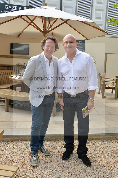 Left to right, DERMOT GAVIN and ROSS KEMP at the 2014 RHS Chelsea Flower Show held at the Royal Hospital Chelsea, London on 19th May 2014.