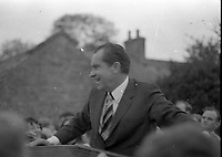 American President Richard Nixon in His Ancestral home of Timahoe Co Kildare, 05/10/1970 (Part of the Independent Newspapers Ireland/NLI Collection).