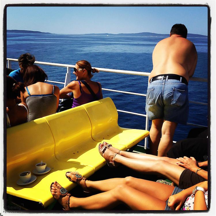 Passagiere auf der Faehre, Kroatien