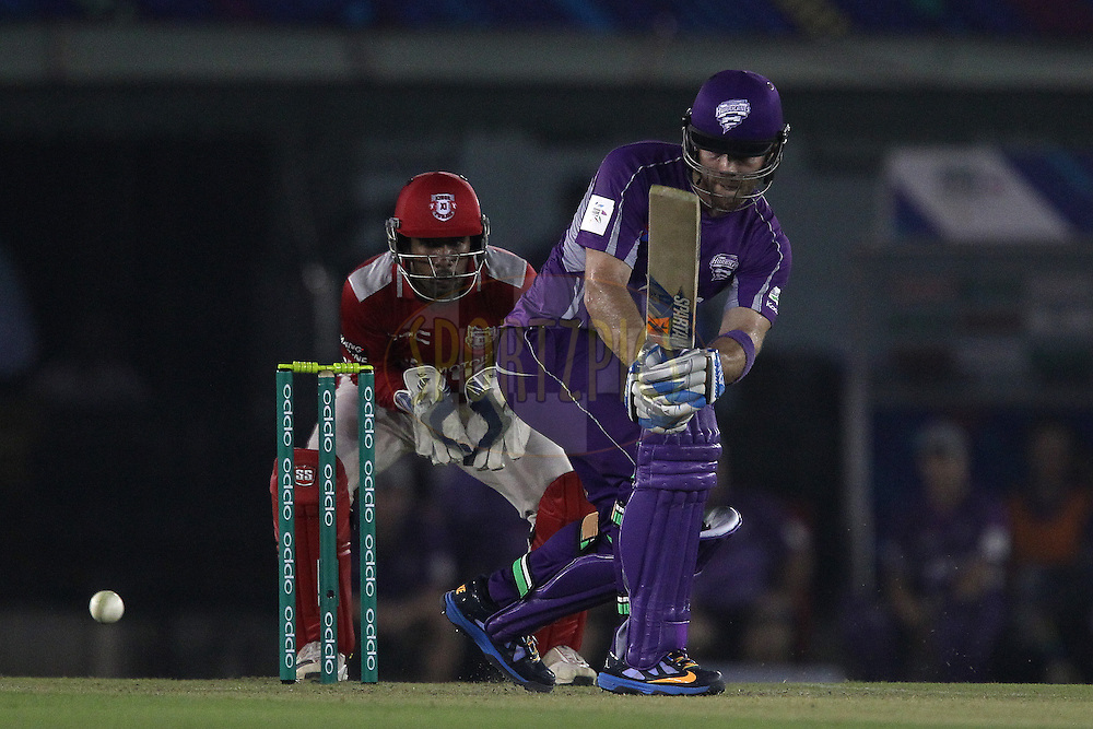 Aiden BLIZZARD of the Hobart Hurricanes  during match 2 of the Oppo Champions League Twenty20 between the Kings XI Punjab and the Hobart Hurricanes held at the Punjab Cricket Association Stadium, Mohali, India on the 18th September 2014<br /> <br /> Photo by:  Ron Gaunt / Sportzpics/ CLT20<br /> <br /> <br /> Image use is subject to the terms and conditions as laid out by the BCCI/ CLT20.  The terms and conditions can be downloaded here:<br /> <br /> http://sportzpics.photoshelter.com/gallery/CLT20-Image-Terms-and-Conditions-2014/G0000IfNJn535VPU/C0000QhhKadWcjYs