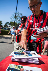 AFC Bournemouth fans arrive, match day programs on sale - Mandatory by-line: Jason Brown/JMP - Mobile 07966 386802 08/08/2015 - FOOTBALL - Bournemouth, Vitality Stadium - AFC Bournemouth v Aston Villa - Barclays Premier League - Season opener