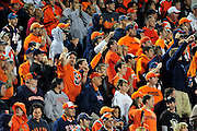 Sept. 4, 2010; Akron, OH, USA; Syracuse Orange fans cheer for their team during the fourth quarter against the Akron Zips at InfoCision Stadium. Syracuse beat Akron 29-3. Mandatory Credit: Jason Miller-US PRESSWIRE