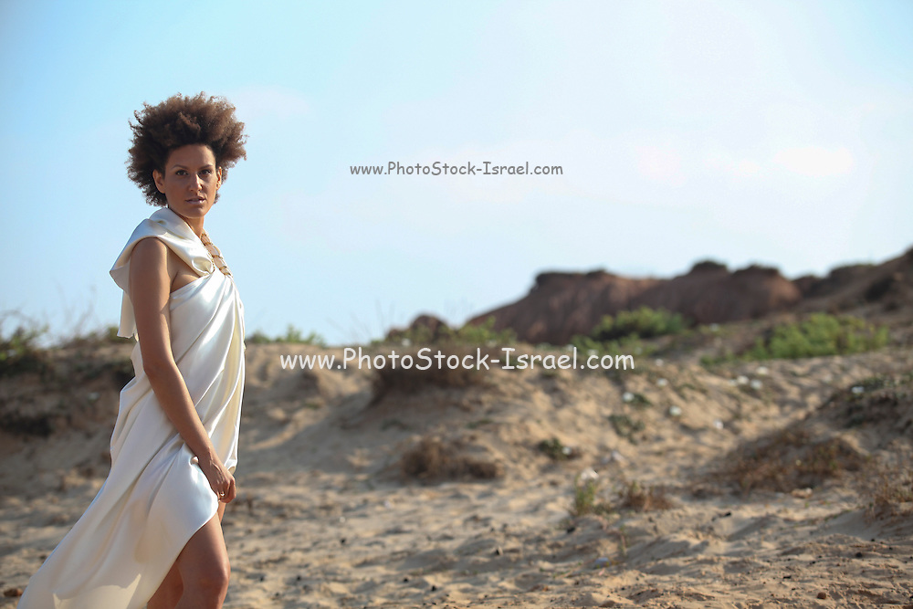 young woman on the shore Model Release available