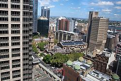 Aerial view of City Hall, Sydney, Australia