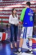 Giulia Cicchinè, Giacomo Devecchi<br /> Banco di Sardegna Dinamo Sassari - Segafredo Virtus Bologna<br /> Legabasket LBA Serie A 2019-2020<br /> Sassari, 22/12/2019<br /> Foto L.Canu / Ciamillo-Castoria