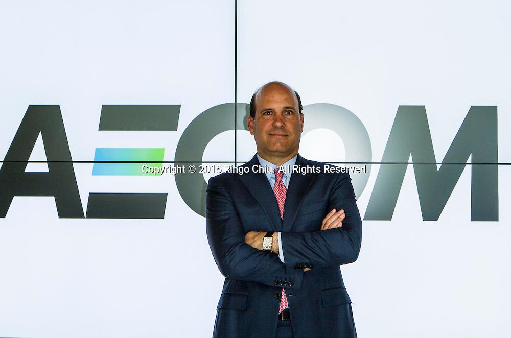 Mike Burke, CEO of Aecom.<br /> Photo by Ringo Chiu/PHOTOFORMULA.com)