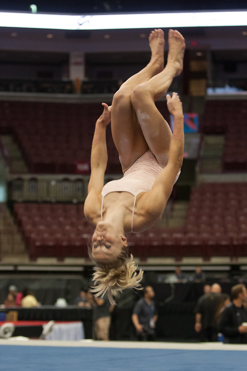 USA Gymnastics GK Classic - Schottenstein Center, Columbus, OH - July 28th, 2018. Riley McCusker competes on the floor at the Schottenstein Center in Columbus, OH; in the USA Gymnastics GK Classic in the senior division. - Photo by Wally Nell/ZUMA Press