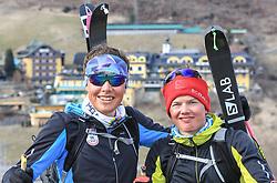 22.03.2018, Pichl-Preunegg bei Schladming, AUT, Red Bull Der lange Weg, Überquerung Alpenhauptkamm, längste Skitour der Welt, im Bild v. l. David Wallmann (AUT), Philipp Reiter (GER) // during the Red Bull Der lange Weg, crossing of the main ridge of the Alps, longest ski tour of the world, in Pichl-Preunegg near Schladming, Austria on 2018/03/22. EXPA Pictures © 2018, PhotoCredit: EXPA/ Martin Huber