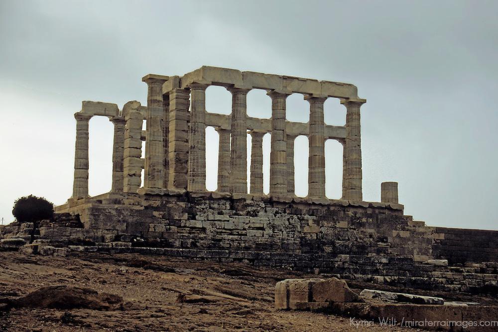 Europe, Greece, Cape Sounion. Temple of Poseidon.