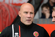 Walsall manager Jon Whitney during the EFL Sky Bet League 1 match between Walsall and Oldham Athletic at the Banks's Stadium, Walsall, England on 12 August 2017. Photo by Alan Franklin.