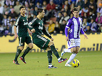 During a Spanish La Liga soccer match against Valladolid at the Jose Zorrilla stadium in Valladolid, Spain, Saturday, Dec. 8, 2012.