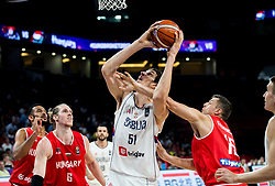 Boban Marjanovic of Serbia vs Csaba Ferencz of Hungary during basketball match between National Teams of Serbia and Hungary at Day 11 in Round of 16 of the FIBA EuroBasket 2017 at Sinan Erdem Dome in Istanbul, Turkey on September 10, 2017. Photo by Vid Ponikvar / Sportida