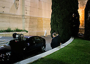 Pope Francis leave the last congregation of extraordinary synod of bishops on the family. Vatican City on October 24, 2015. Christian Mantuano / OneShot