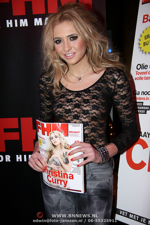 NLD/Amsterdam/20091214 - Onthulling FHM cover Christina Curry,