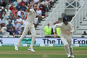 Stuart Broad of England gets excited at an edge during the 3rd International Test Match 2018 match between England and India at Trent Bridge, West Bridgford, United Kingdon on 18 August 2018.