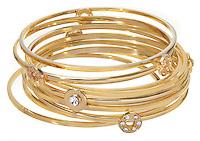 gold bracelets stacks