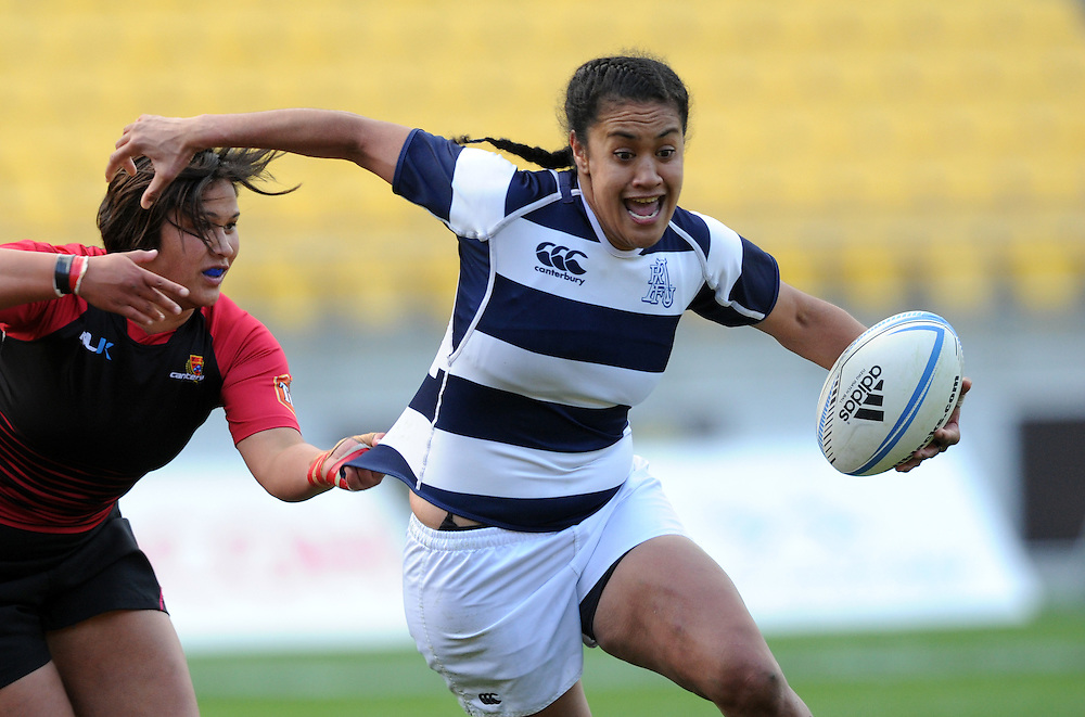 Aucklands' Bella Milo against Canterbury in the Women's National Provincial Rugby Final at Westpac Stadium, Wellington, New Zealand, Saturday, October 26, 2013. Credit:SNPA / Ross Setford