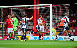 West Bromwich Albion's Craig Dawson  celebrates scoring the only goal of the game - Photo mandatory by-line: Joseph Meredith / JMPUK - 30/07/2011 - SPORT - FOOTBALL - Championship - Bristol City v West Bromwich Albion - Ashton Gate Stadium, Bristol, England