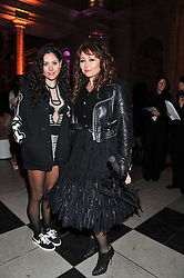 Left to right, ELIZA DOOLITTLE and FRANCES RUFFELLE at the 50th birthday party for Jonathan Shalit held at the V&A Museum, London on 17th April 2012.