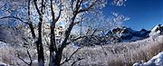 Schwarzsee / Lac noir en hiver. Le paysage du joyau touristique de la Singine du Canton de Fribourg demeure fortement marqué par les préalpes. © Romano P. Riedo