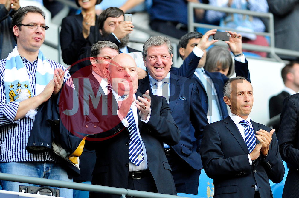 England Manager, Roy Hodgson - Photo mandatory by-line: Dougie Allward/JMP - Tel: Mobile: 07966 386802 22/09/2013 - SPORT - FOOTBALL - City of Manchester Stadium - Manchester - Manchester City V Manchester United - Barclays Premier League
