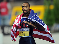 Friidrett<br /> VM 2009 Berlin<br /> 16.08.2009<br /> Foto: Witters/Digitalsport<br /> NORWAY ONLY<br /> <br /> ATHLETICS - WORLD CHAMPIONSHIPS 2009 - BERLIN (GER) - 15-23/08/2009 - 16/08/09<br /> <br /> Tyson Gay (USA)<br /> Leichtathletik WM 2009 in Berlin, Sprint 100m Maenner Finale