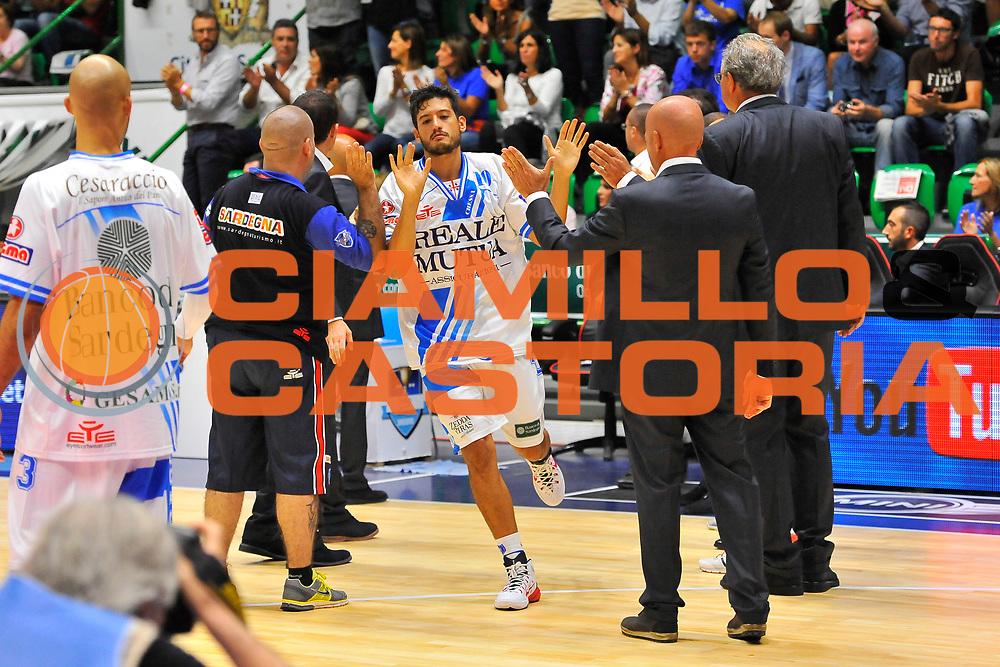 DESCRIZIONE : Supercoppa 2014 Semifinale Dinamo Banco di Sardegna Sassari - Virtus Acea Roma<br /> GIOCATORE : Massimo Chessa<br /> CATEGORIA : Before<br /> SQUADRA : Dinamo Banco di Sardegna Sassari<br /> EVENTO : Supercoppa 2014<br /> GARA : Dinamo Banco di Sardegna Sassari - Virtus Acea Roma<br /> DATA : 04/10/2014<br /> SPORT : Pallacanestro <br /> AUTORE : Agenzia Ciamillo-Castoria / Luigi Canu<br /> Galleria : Supercoppa 2014<br /> Fotonotizia : Supercoppa 2014 Semifinale Dinamo Banco di Sardegna Sassari - Virtus Acea Roma