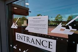 Tank museum closed during Coronavirus lockdown, Wareham, Dorset UK May 2020
