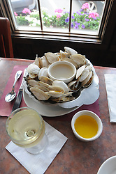 Village has award winning chowder and steamers, the flavor of which, the owner, Kevin Ricci, says is light and simple..Photo by Mike Dean