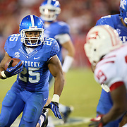 September 15, 2012 - Lexington, Kentucky, USA - UK tailback JONATHAN GEORGE heads to the end zone for a touchdown in overtime before Western Kentucky University eventually defeated the University of Kentucky, 32-31, on a trick play. (Credit Image: © David Stephenson/ZUMA Press).