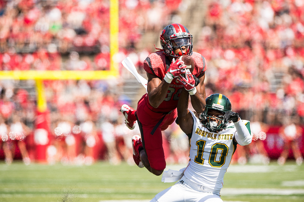 The Rutgers Scarlet Knights football team takes on Norfolk State Spartans at High Point Solutions Stadium on Saturday September 5, 2015.<br /> Ben Solomon/Rutgers Athletics