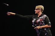 Lisa Ashton during the Grand Slam of Darts, at Aldersley Leisure Village, Wolverhampton, United Kingdom on 11 November 2019.