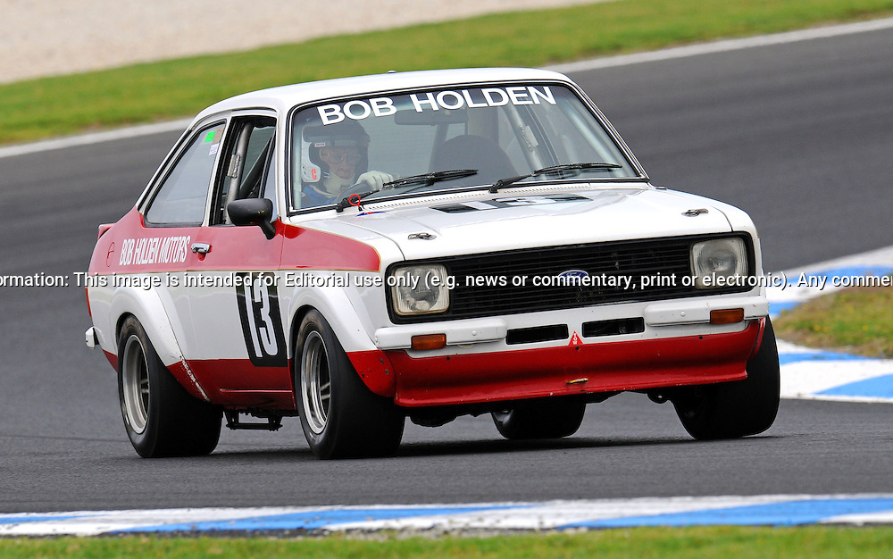 Bob Holden - Ford Escort MKII - Group D    .Historic Motorsport Racing - Phillip Island Classic.18th March 2011.Phillip Island Racetrack, Phillip Island, Victoria.(C) Joel Strickland Photographics.Use information: This image is intended for Editorial use only (e.g. news or commentary, print or electronic). Any commercial or promotional use requires additional clearance.