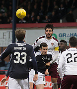 Hearts&rsquo; Alim Ozturk heads clear from Dundee&rsquo;s Paul McGinn  - Dundee v Hearts - Ladbrokes Premiership at Dens Park <br />  - &copy; David Young - www.davidyoungphoto.co.uk - email: davidyoungphoto@gmail.com