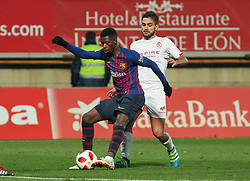 October 31, 2018 - Leon, Leon, Spain - Dembele of Barcelona in action during the King Spanish championship, , football match between Cultural Leonesa and Barcelona, October 31, in Reino de Leon Stadium in Leon, Spain. (Credit Image: © AFP7 via ZUMA Wire)