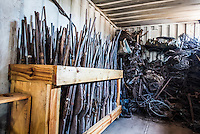 Poachers homemade firearms, Majete Wildlife Reserve, Malawi.
