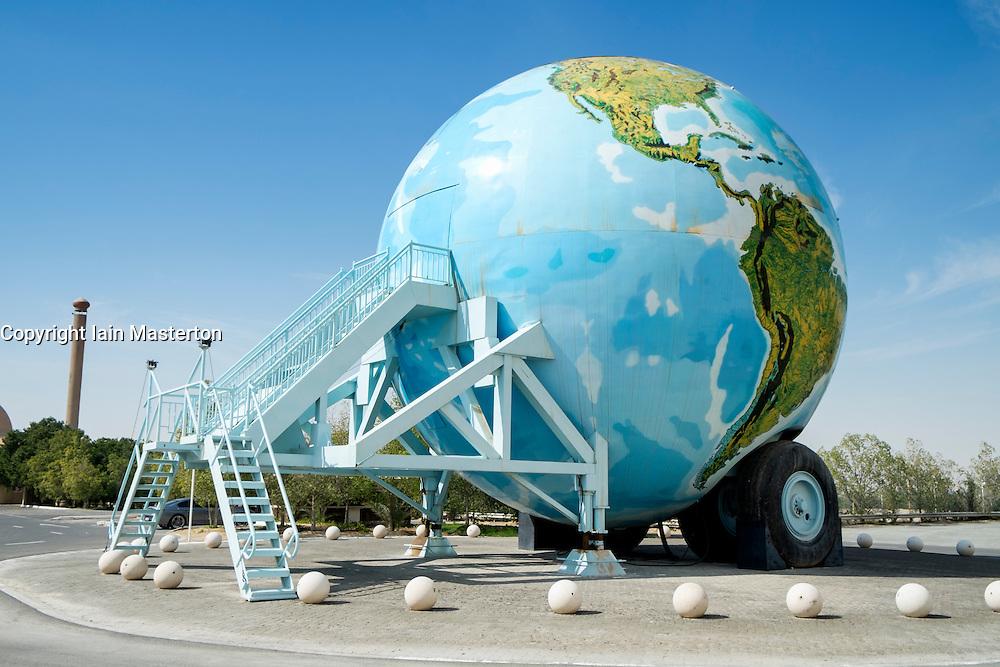 Emirates National Auto Museum ouside Abu Dhabi in United Arab Emirates