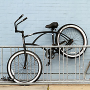 A bicycle parked askew (Be Different)