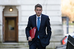 © Licensed to London News Pictures. 11/02/2020. London, UK. Secretary of State for Education Gavin Williamson arriving in Downing Street to attend a Cabinet meeting this morning. An announcement on the high speed rail line 'HS2' is expected today.  Photo credit : Tom Nicholson/LNP
