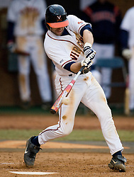 Virginia Cavaliers INF Tyler Cannon (10) makes contact on a Siena pitch.  The #16 ranked Virginia Cavaliers baseball team defeated the Siena Saints 17-2 at the University of Virginia's Davenport Field in Charlottesville, VA on February 29, 2008.