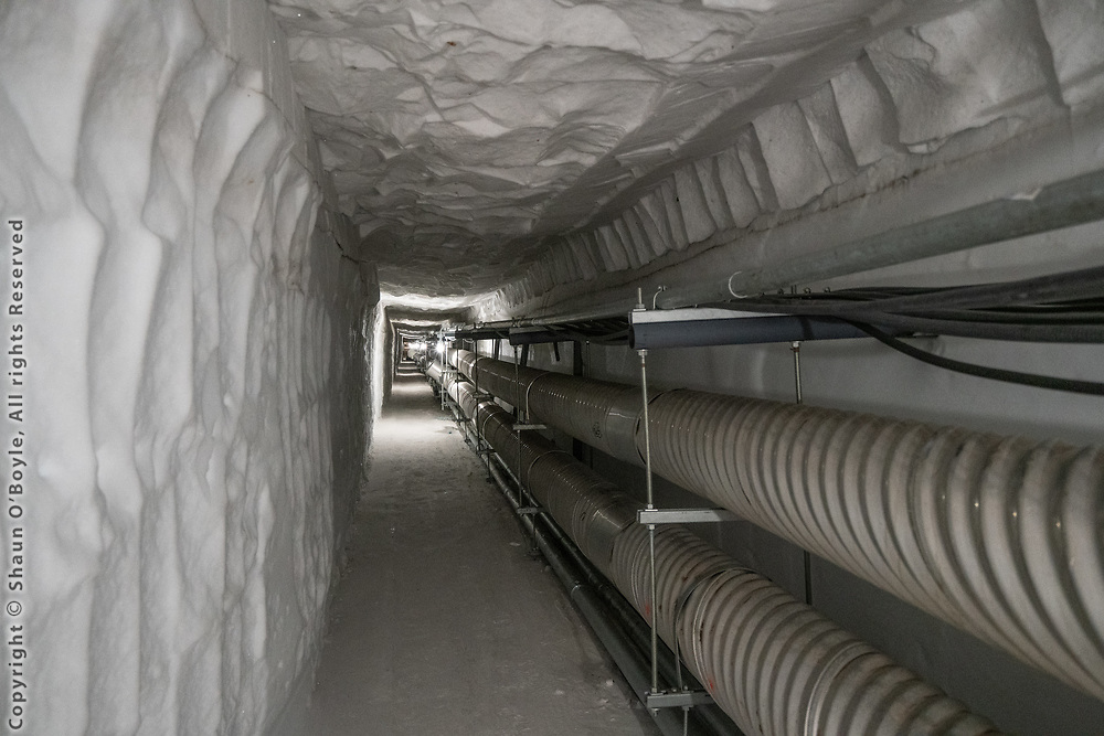 Utility tunels 60 to 70 feet under the ice, South Pole Station