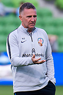 MELBOURNE, AUSTRALIA - APRIL 13: Melbourne City head coach Warren Joyce looks on during round 25 of the Hyundai A-League soccer match between Melbourne City FC and Adelaide United on April 13, 2019 at AAMI Park in Melbourne, Australia. (Photo by Speed Media/Icon Sportswire)