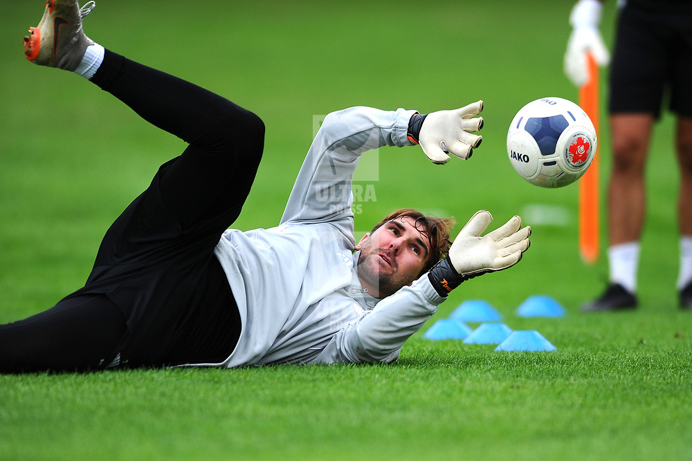 TELFORD COPYRIGHT MIKE SHERIDAN Russ Griffiths during AFC Telford United's return to training at Lilleshall National Sports Centre on Saturday, July 4, 2020.<br /> <br /> <br /> Picture credit: Mike Sheridan/Ultrapress<br /> <br /> MS202021
